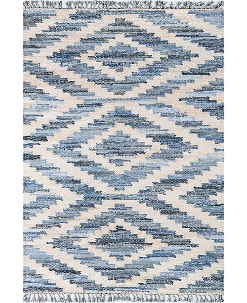 "Novogratz Collection Novogratz California Cal-2 Blue 7'6"" x 9'6"" Area Rug"