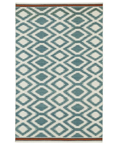 Kaleen Nomad NOM04-78 Turquoise 9' x 12' Area Rug