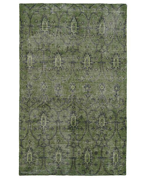 "Kaleen Restoration RES01-50 Green 5'6"" x 8'6"" Area Rug"