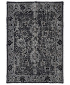 "Restoration RES02-02 Black 5'6"" x 8'6"" Area Rug"