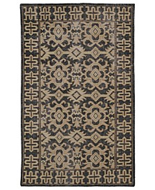 "Restoration RES04-02 Black 5'6"" x 8'6"" Area Rug"