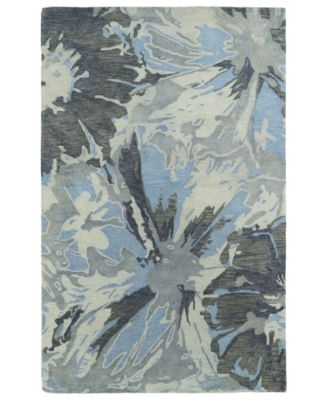 "Brushstrokes BRS06-75 Gray 3'6"" x 5'6"" Area Rug"