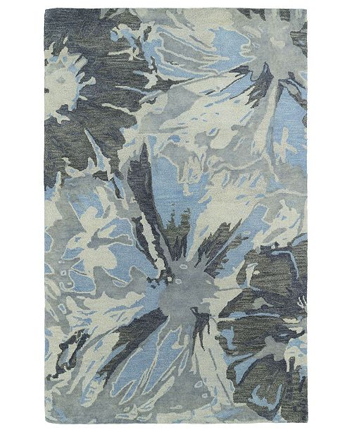 "Kaleen Brushstrokes BRS06-75 Gray 3'6"" x 5'6"" Area Rug"