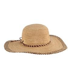 Raffia Round Crown Hat