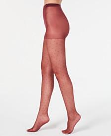 I.N.C. Women's Swiss-Dot Tights, Created For Macy's