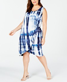 Love Squared Trendy Plus Size Tie-Dyed Dress