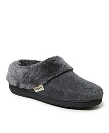 Women's Velour Clog Slippers, Online Only