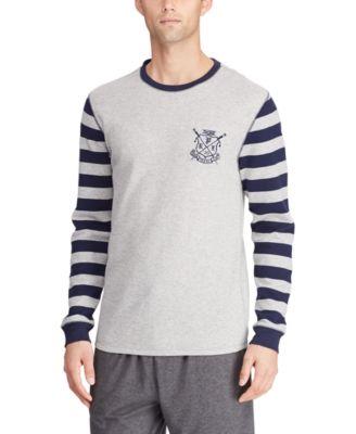 Men's Crest Logo Waffle Crewneck Shirt