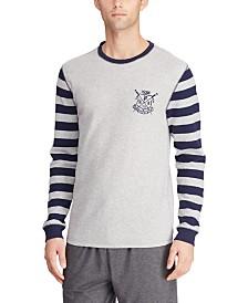 Polo Ralph Lauren Men's Crest Logo Waffle Crewneck Shirt