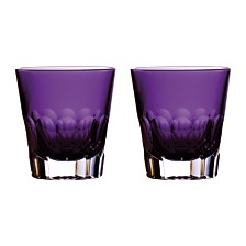 Waterford Jeff Leatham Icon Double Old Fashioned Amethyst Pair