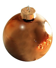 "3.25"" Glass Christmas Ornaments - Box of 8"