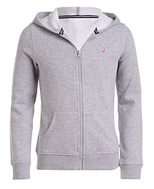 Little Girls Zip-Up Fleece Hoodie