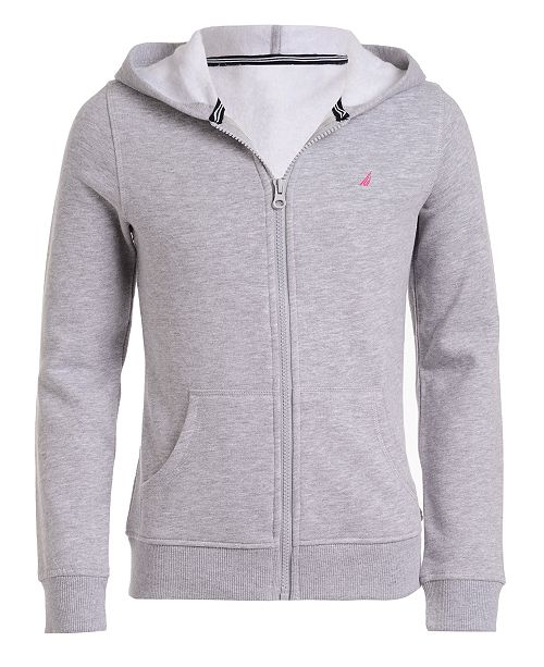 Nautica Little Girls Zip-Up Fleece Hoodie