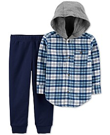 Carter's Toddler Boys 2-Pc. Cotton Plaid Hoodie & Jogger Pants Set