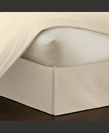 "Belles and Whistles 14"" Tailored White Twin Bed Skirt with Pleats"
