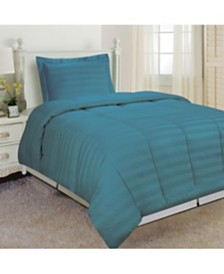Dream Space Striped Damask Twin Comforter Set