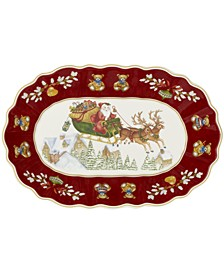 Toy's Fantasy Large Oval Bowl: Sleigh Ride