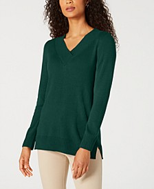 Solid Crossover V-Neck Sweater, Created for Macy's