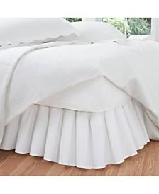 Fresh Ideas Ruffled Poplin Twin Bed Skirt