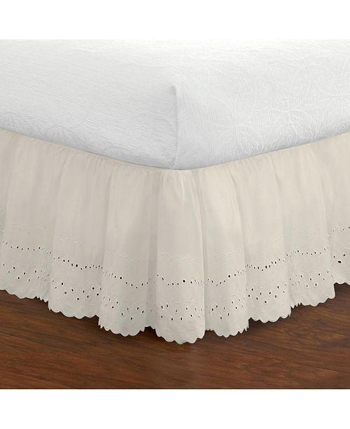 Fresh Ideas Ruffled Eyelet King Bed Skirt
