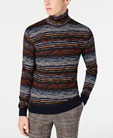 Paisley & Gray Men's Slim-Fit Striped Turtleneck Sweater