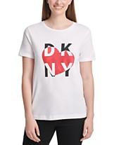 124f2694 DKNY Metallic Heart Logo T-Shirt · NEW!