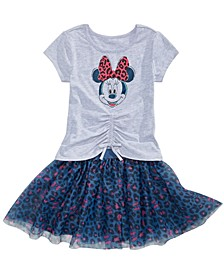 Little Girls Minnie Mouse T-Shirt & Skirt Set