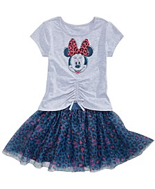 Disney Little Girls Minnie Mouse T-Shirt & Skirt Set
