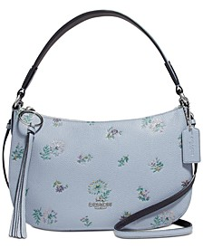 Sutton Leather Crossbody In Meadow Print