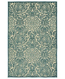 "A Breath of Fresh Air FSR102-17 Blue 3'10"" x 5'8"" Area Rug"