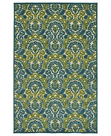 "A Breath of Fresh Air FSR107-17 Blue 2'1"" x 4' Area Rug"