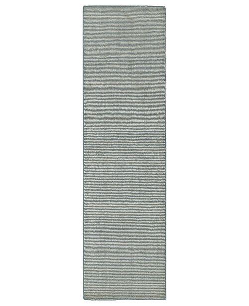"""Kaleen Luminary LUM01-103 Slate 2'3"""" x 8' Runner Rug"""