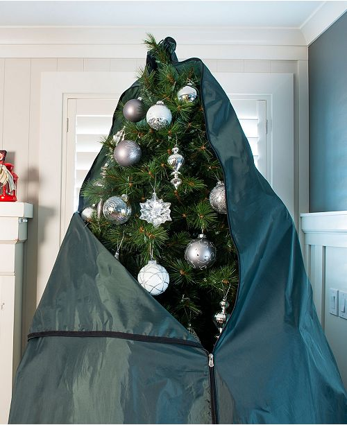 Christmas Tree Rolling Storage Bag.Decorated Upright Tree Storage Bag W Rolling Tree Stand