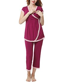 Kimi & Kai Cindy Maternity Nursing Pajama Set