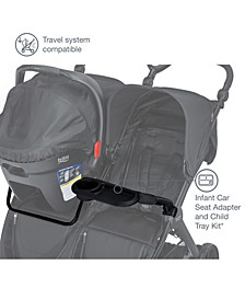 B-Lively Double Infant Car Seat Adapter and Child Tray