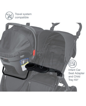 Britax B-Lively Double Infant Car Seat Adapter and Child Tray