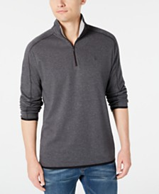 DKNY Men's Supima Cotton Quarter-Zip Sweater
