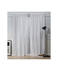 Nicole Miller Mellow Slub Textured Hidden Tab Top Curtain Panel Pair