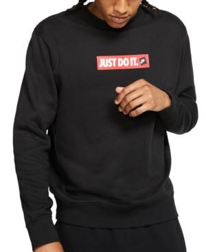 Men's Crew Fleece Just Do It Sweatshirt In Black
