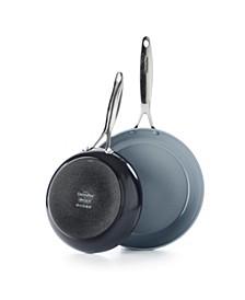 "Valencia Pro 10"" & 12"" Ceramic Non-Stick Open Fry Pan Set"