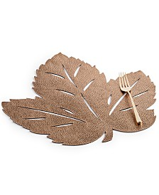 Elrene Metallic Leaf Soft Copper-Tone Placemat