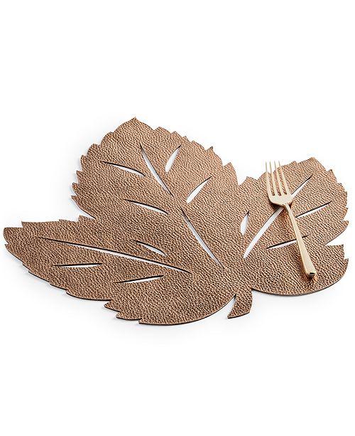 Elrene Metallic Leaf Soft Copper-Tone Placemat
