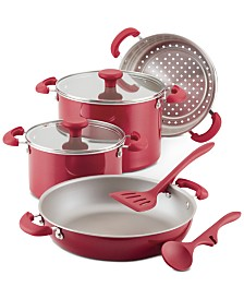 Rachael Ray Create Delicious Stackable Nonstick 8-Pc. Cookware Set