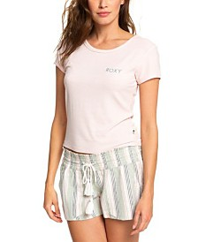 Roxy Juniors' Cropped Logo T-Shirt