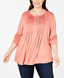 Plus Size Pintuck Top, Created for Macy's
