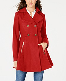 Petite Double-Breasted Skirted Coat