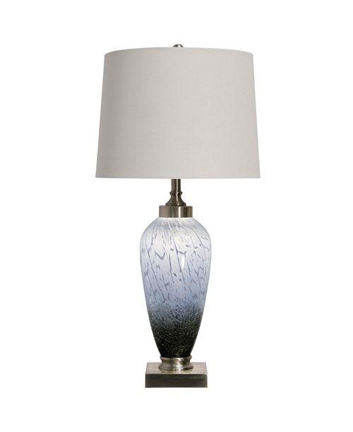 StyleCraft Ezra Table Lamp 35In Art Glass Body With Inner Led Night Light