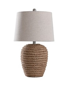 Helston 24in Natural Rope Wrapped Base Table Lamp