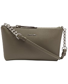 Calvin Klein Hayden Saffiano Leather Chain Crossbody