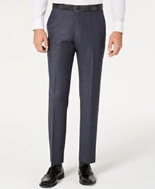 Tommy Hilfiger Men's Modern-Fit THFlex Stretch Blue Plaid Suit Separate Pants